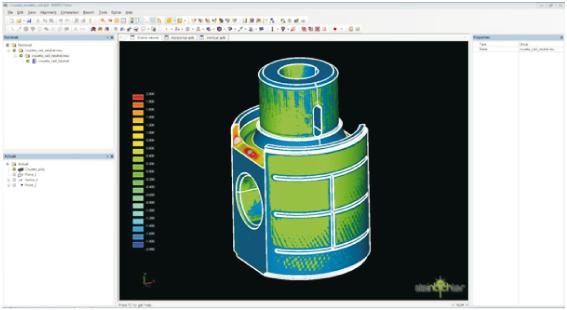 Figura 12 – Comparação CAD x Digitalização através do COMET Inspect Plus