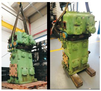 Figura 4 – Compressor modelo 2K90-2A - Chegada para manutenção
